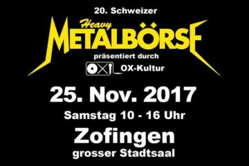 20. Schweizer Heavy-Metal-Börse im Stadtsaal